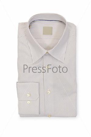 Красивая мужская рубашка, изолированная на белом