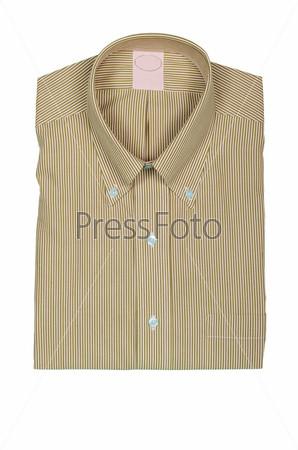 Мужская рубашка, изолированная на белом