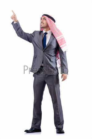 Арабский бизнесмен, изолированный на белом