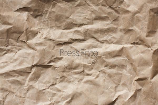 Фотография на тему Мятая коричневая бумага
