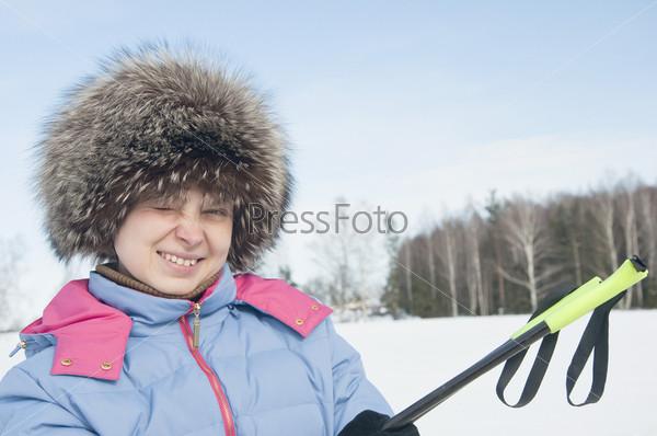 Фотография на тему Женщина туристический лыжник