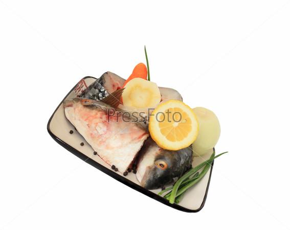 Сырая рыба, куски