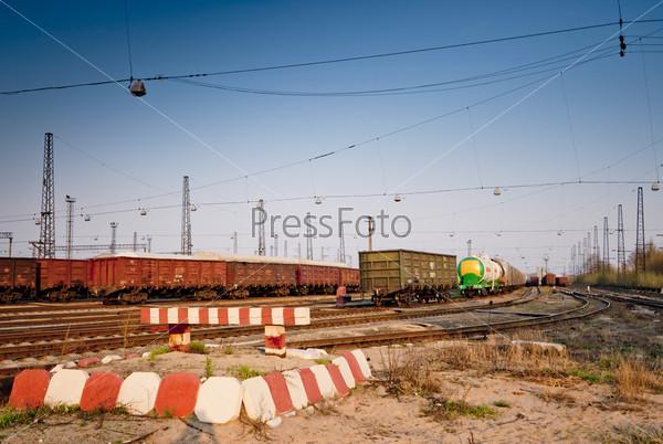 Тупик на железнодорожной станции