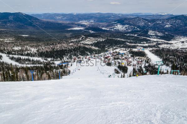 Горнолыжный курорт Шерегеш, гора Шория, Кемеровская область, Россия