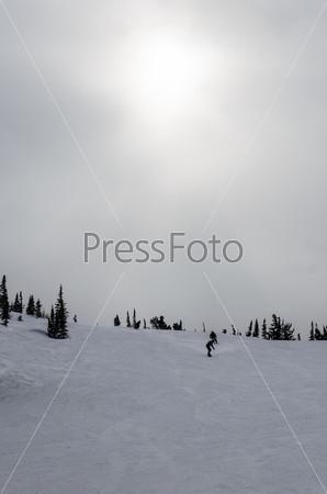 Фотография на тему Горнолыжный курорт Шерегеш, горная Шория, Кемеровская область, Россия