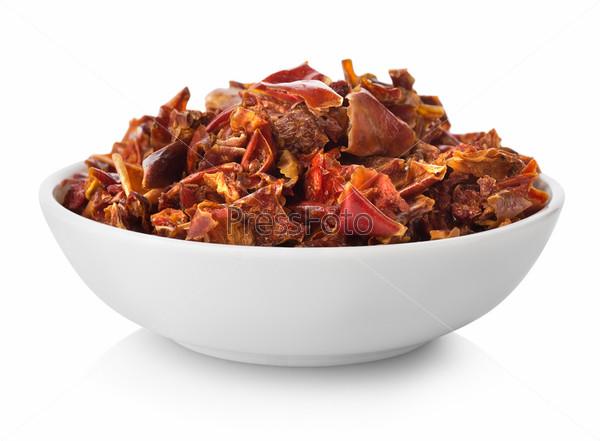Фотография на тему Нарезанный перец в тарелке