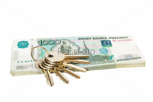 Фотография на тему Ключи на рублевых купюрах