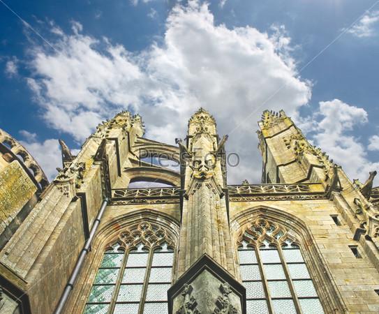 Башня в аббатстве Мон Сен-Мишель. Нормандия