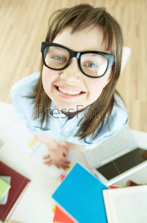 Фотография на тему Смешная ученица