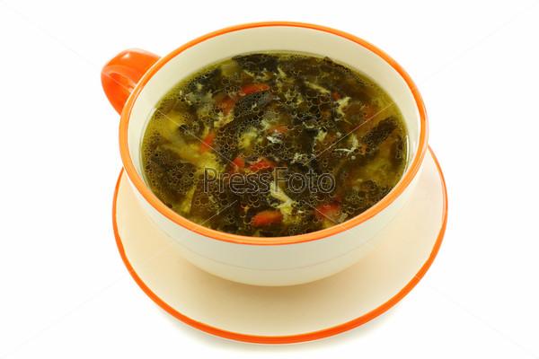 Зеленый суп со щавелем