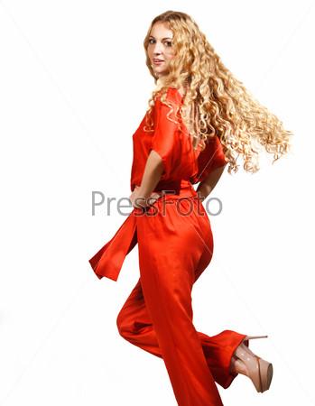 Фотография на тему Красивая блондинка с длинными волосами