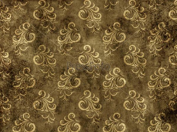 Текстура обоев с цветочным узором