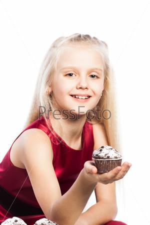 Фотография на тему Девушка дает кекс
