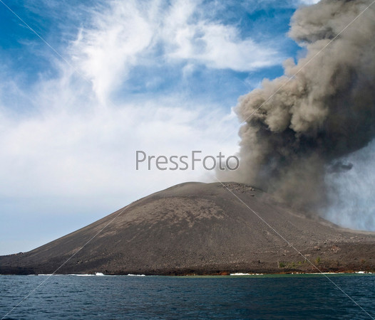 Фотография на тему Извержение Анак Кракатау