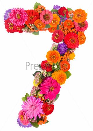 Цифра 7 из цветов