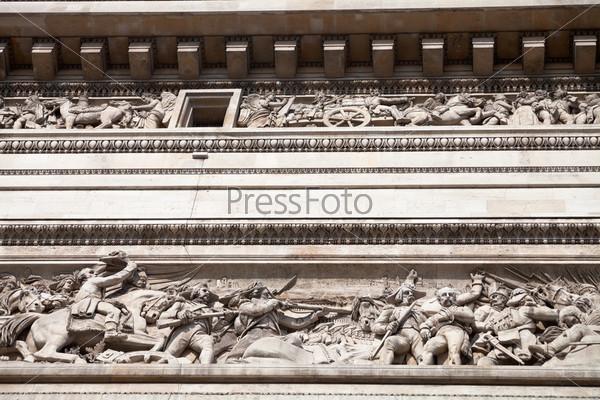 Верхний фриз Триумфальной арки в Париже