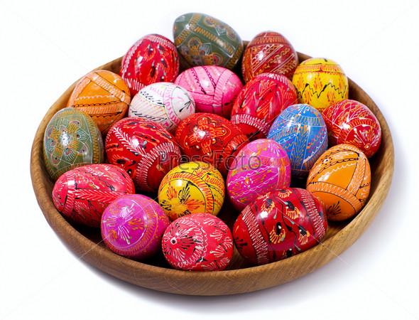 Украинские пасхальные красочные яйца
