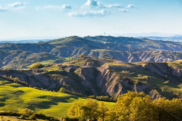 Тосканские холмы, пейзаж