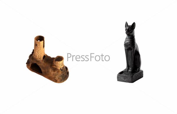 Статуэтка Генуэзская башня и Египетская кошка