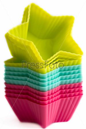 Цветные силиконовые формы для кекса