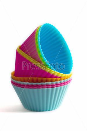 Фотография на тему Цветные силиконовые формы для кекса