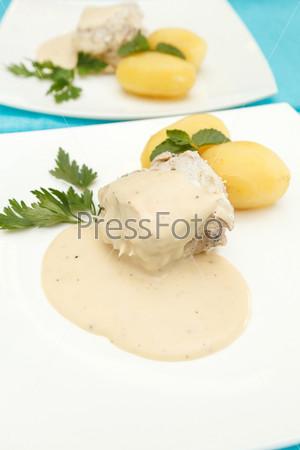 Фотография на тему Рыба с картофелем