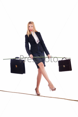 Бизнес-леди идет пок анату, изолировано