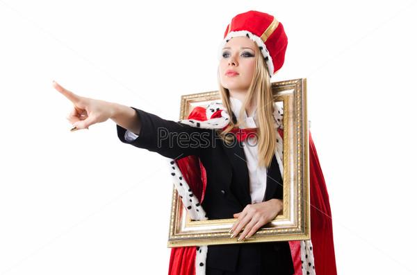 Фотография на тему Женщина-королева в смешной концепции