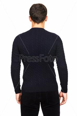 Мужский свитер, изолированный на белом фоне