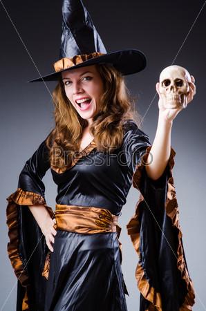 Фотография на тему Ведьма в концепции Хеллоуина