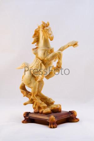 Фотография на тему Лошадь на светлом фоне
