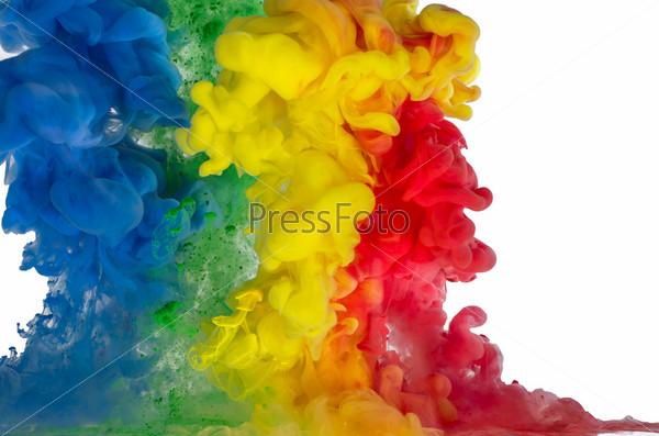 Фотография на тему Смешанные цветные жидкости