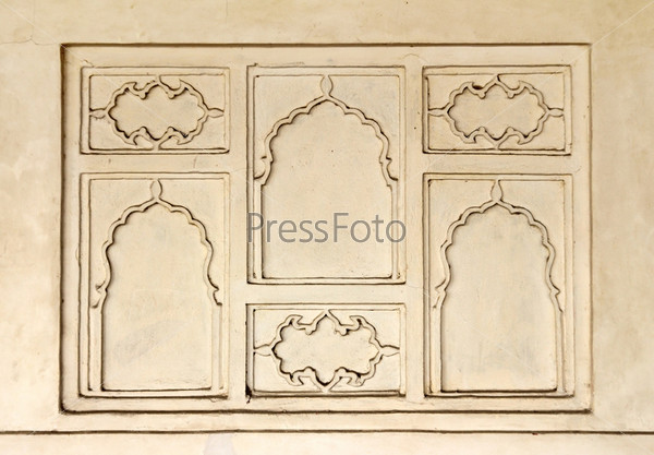 Орнамент на стене в Индии