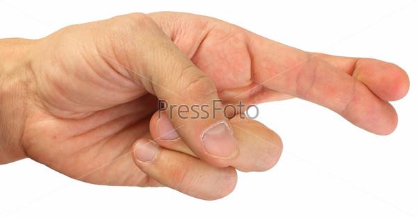 Фотография на тему Скрещенные пальцы, изолировано