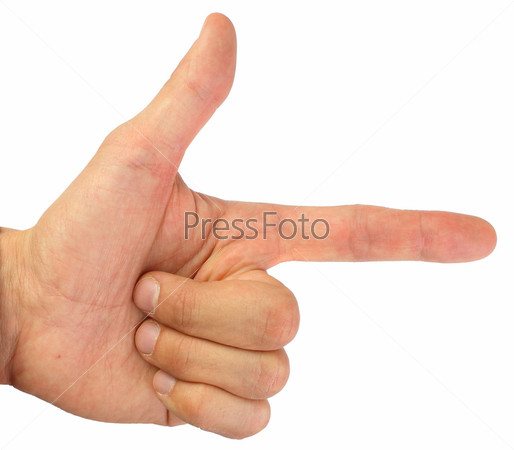 Пальцы, сложенные в виде пистолета