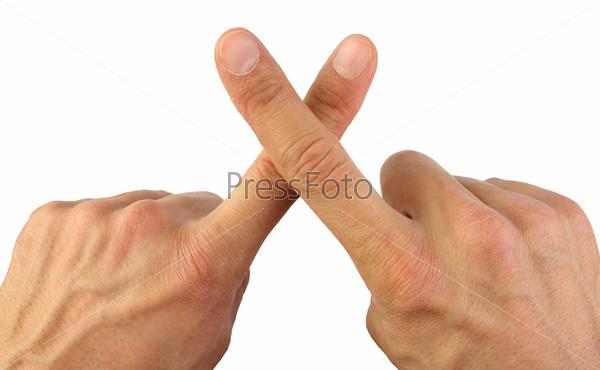 Скрещенные пальцы, изолировано