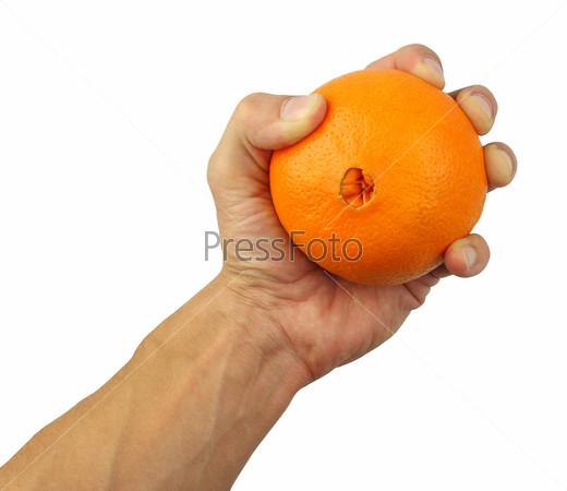 Апельсин в руках