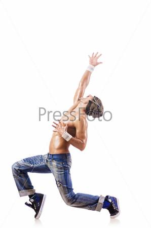 Танцор, изолированный на белом