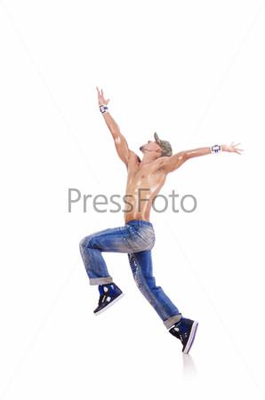 Фотография на тему Танцор, изолированный на белом