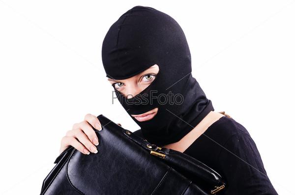 Концепция промышленного шпионажа с человеком в маске