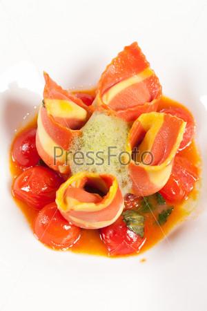 Фотография на тему Итальянская ветчина с овощами