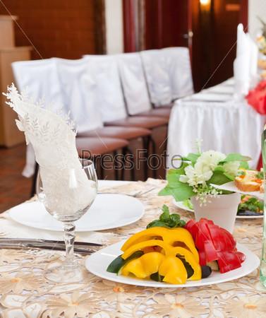 Свадебная сервировка