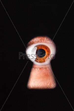 Фотография на тему Глаз в замочной скважине