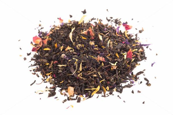 Черный чай с травами