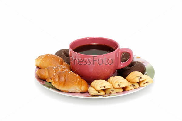 Фотография на тему Круассаны и кофе