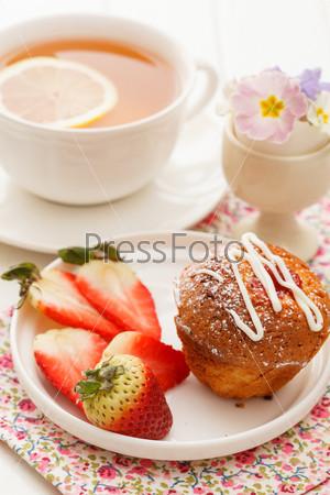 Фотография на тему Кекс с чаем