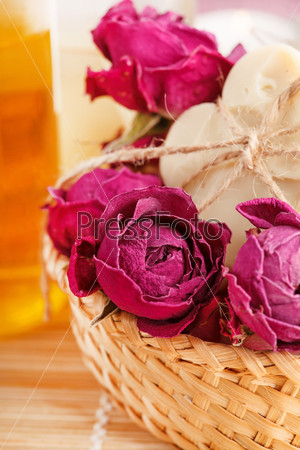 Мыло с розами