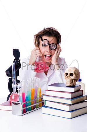Фотография на тему Сумасшедший химик в лаборатории