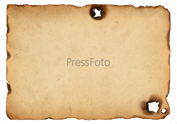 Фотография на тему Старая бумага с обожженными краями