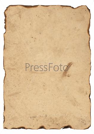 Старая бумага с обожженными краями